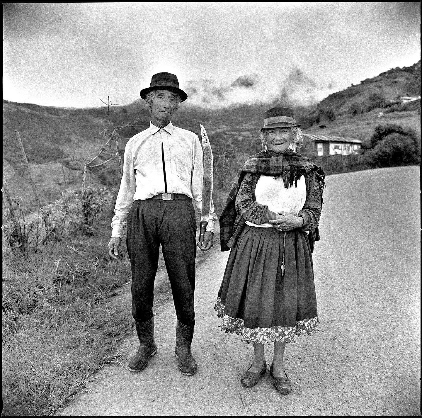 "MANUELLO PAGANELLI, Ecuadorian Couple, 2000, 21x21"", edition of 40"