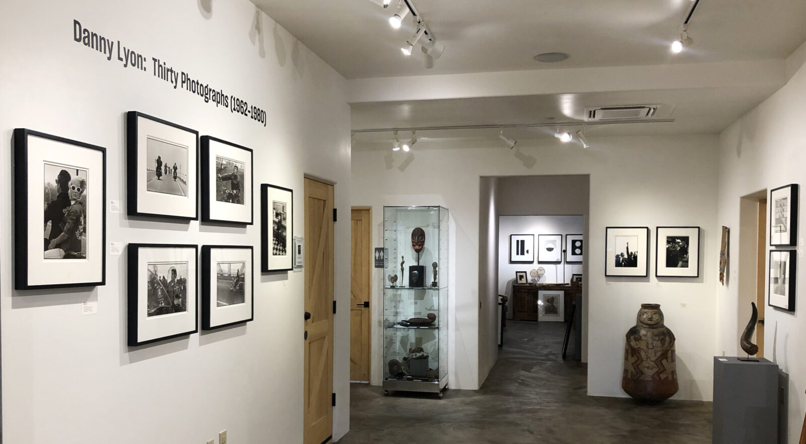 installation image of danny lyon's exhibition at Obscura