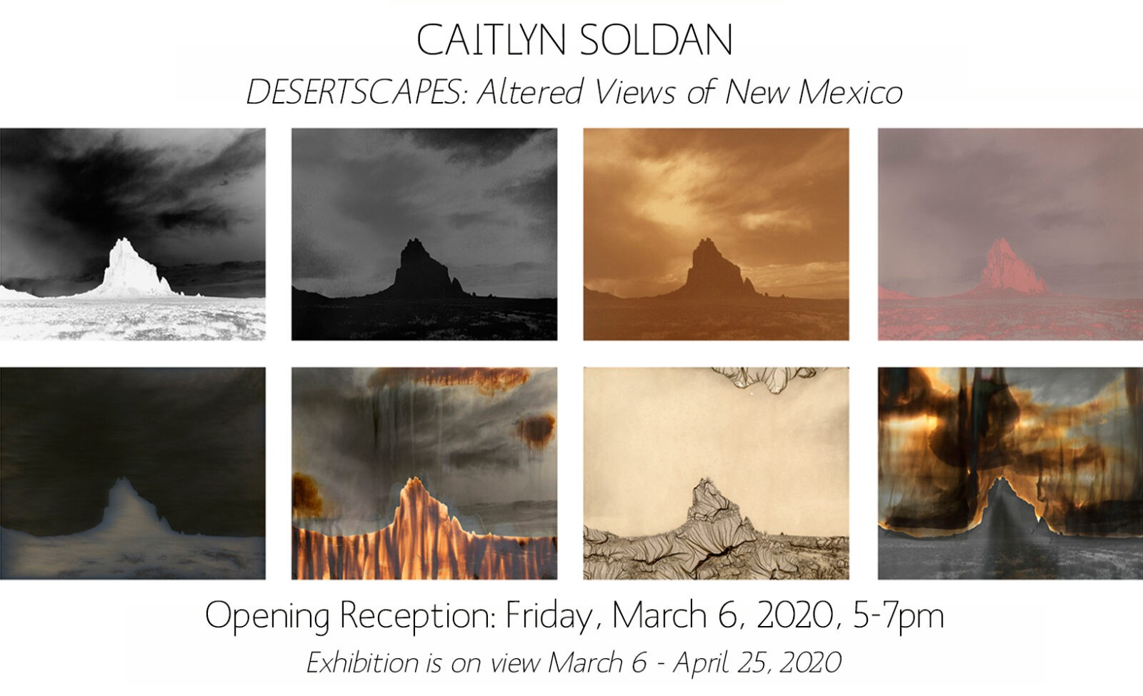 POSTCARD IMAGE FOR CAITLYN SOLDAN'S EXHIBITION OPENING ON MARCH 6, 2020 5-7PM