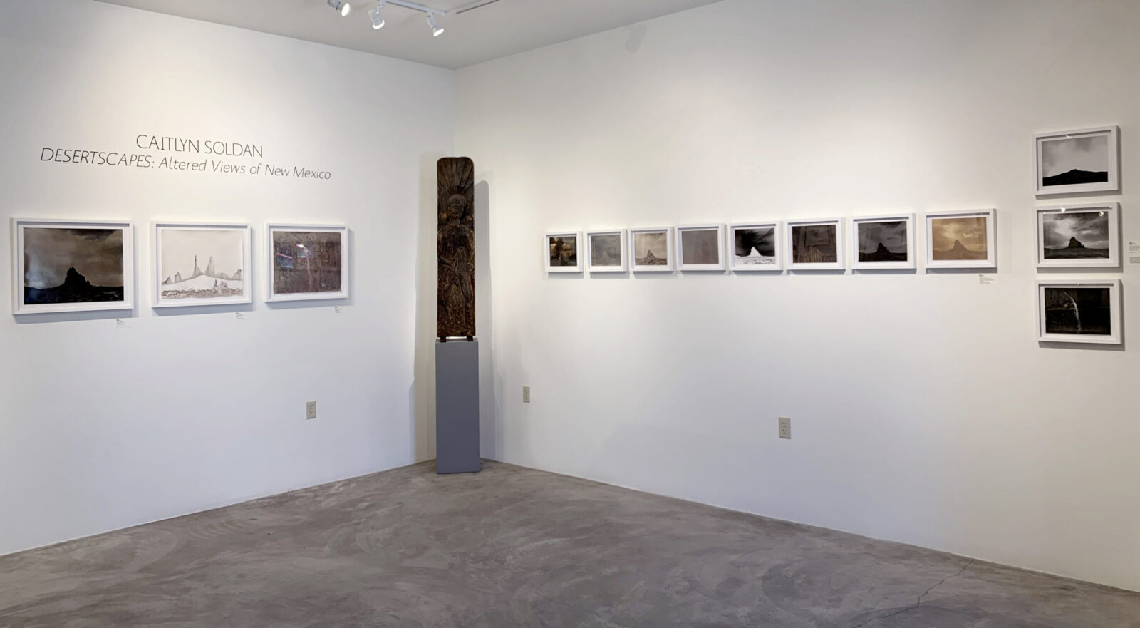 Installation image of Caitlyn Soldan's gallery exhibition