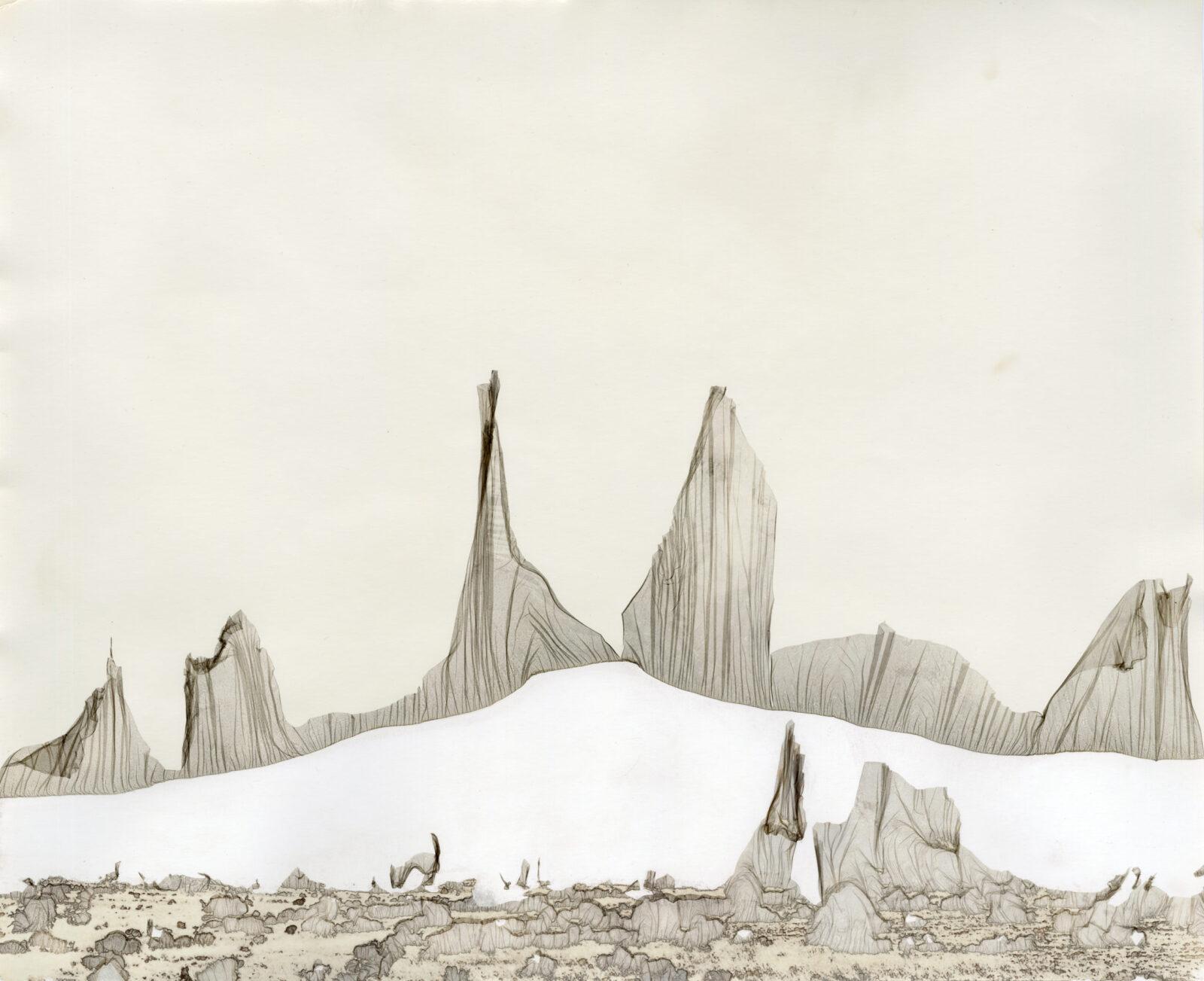 """CAITLYN SOLDAN. Cerro Pedernal Study 19, 2020, mordancage, 16 x 20"""", unique"""