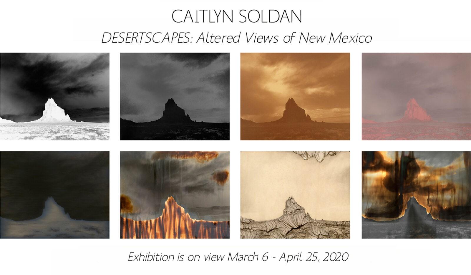 image of postcard for Caitlyn Soldan's exhibition, Desertscapes