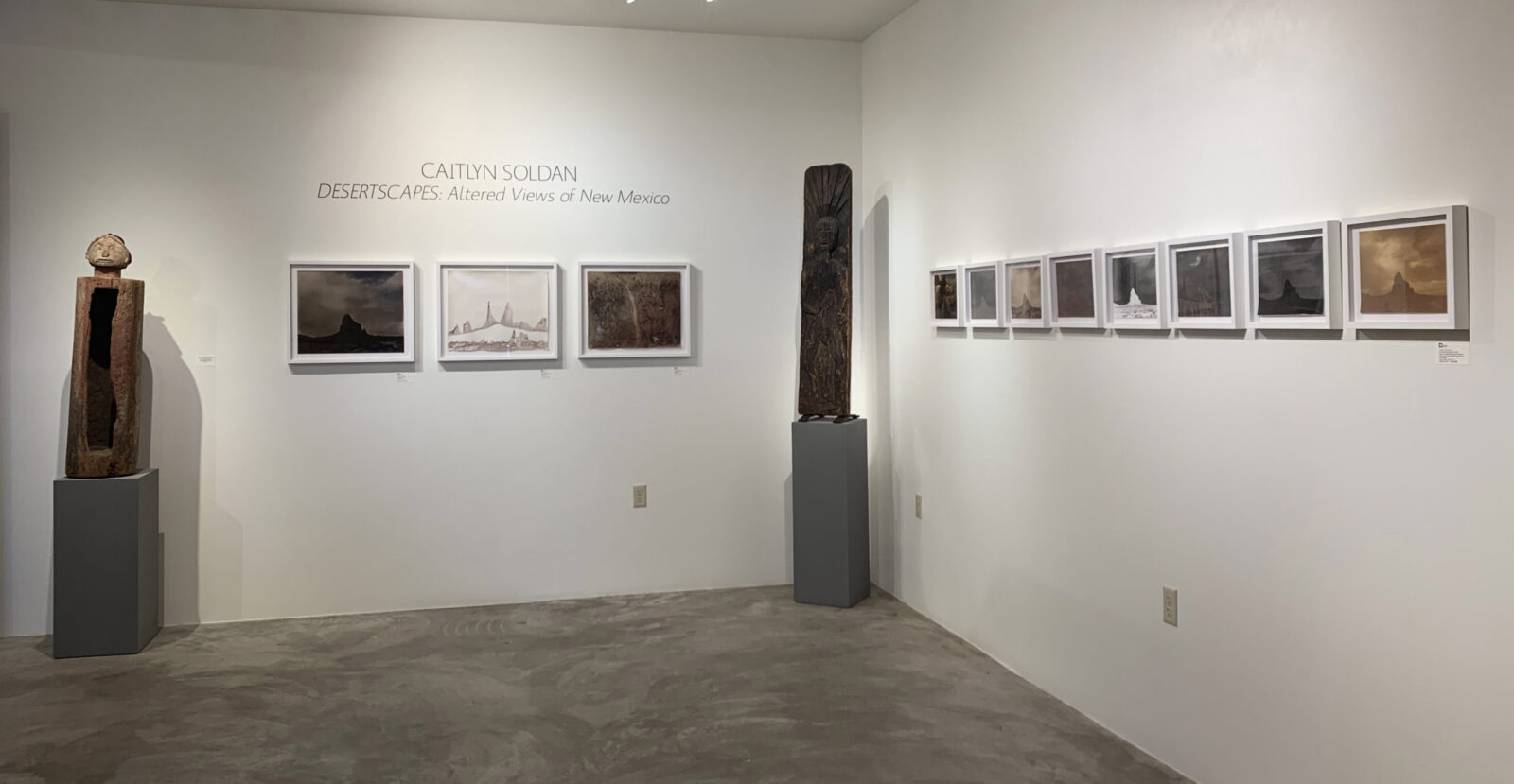 installation image of Caitlyn Soldan's desertscapes exhibition