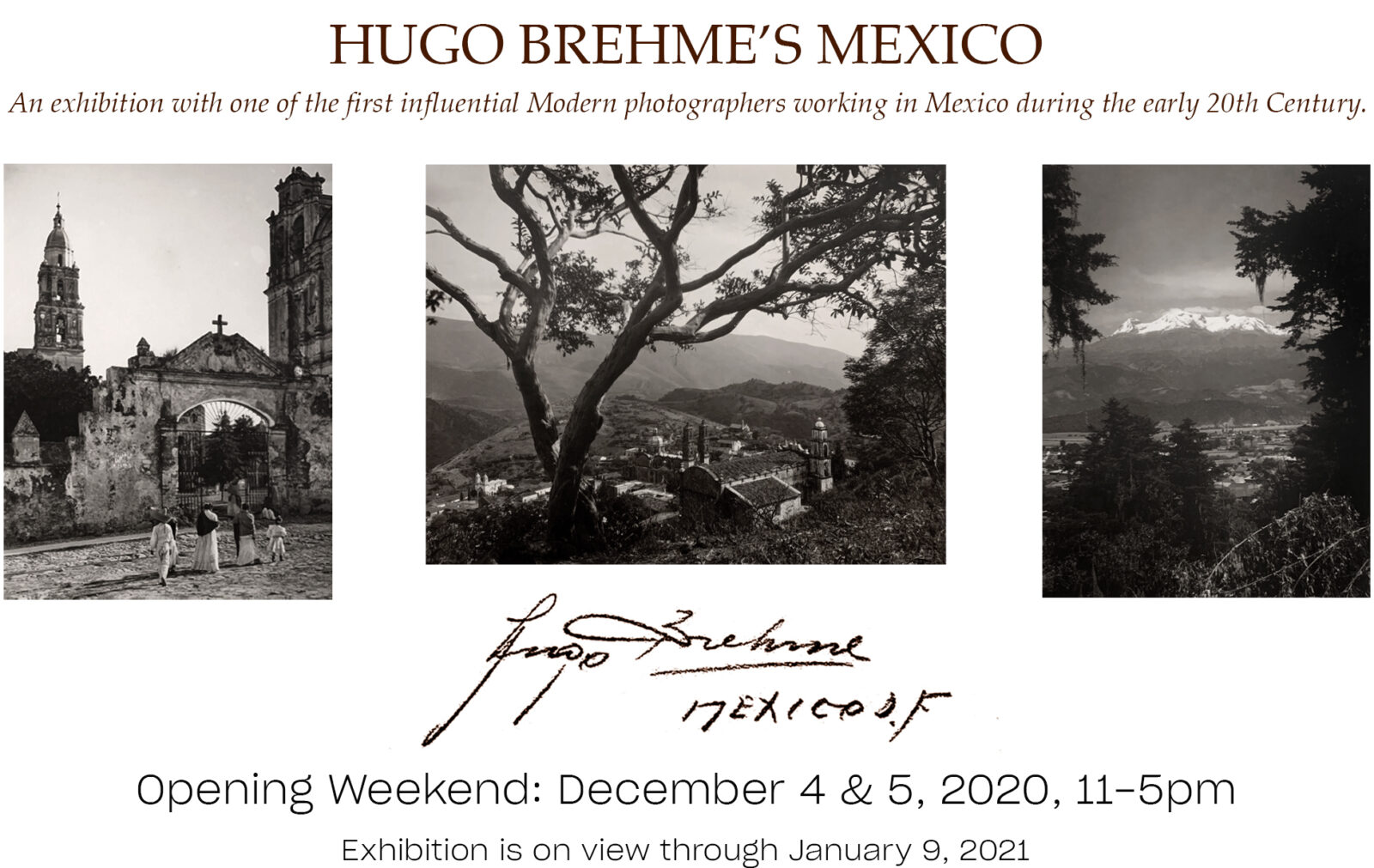 Hugo Brehme's mexico: an exhibition with one of the first influential modern photographers working in mexico during hte early 20th century